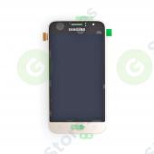 Дисплей Samsung J120F (J1 2016) в сборе с тачскрином Золото - Оригинал