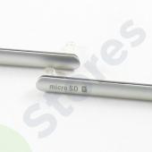 Набор заглушек (USB+MicroSD) Sony D6633 (Z3 Dual) Белый