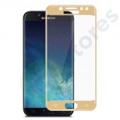"""Защитное стекло """"Полное покрытие"""" Samsung J400F (J4 2018) Золото"""