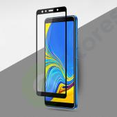 """Защитное стекло """"С рамкой"""" Samsung A750F (A7 2018) Черное"""